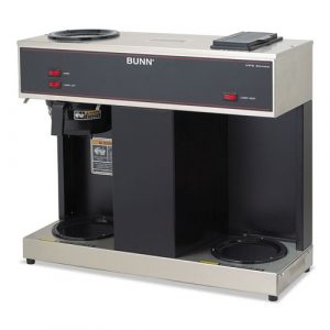 Bunn Pour-O-Matic Three-Burner Pour-Over Coffee Brewer, Stainless
