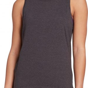 CALIA by Carrie Underwood Women's Cozy Side Panel Tank Top, Small, Black