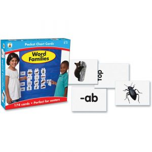 Carson Dellosa Word Families Cards for Pocket Chart, 4 x 2 3/4, 164