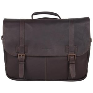 """Colombian Leather Flapover 15.6"""" Laptop Bag"""