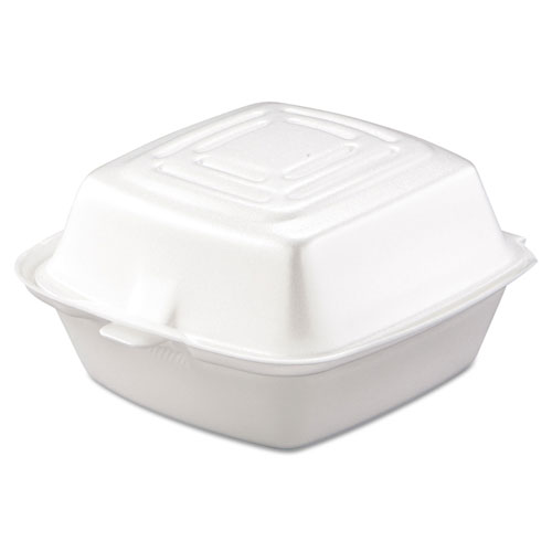 Dart Carryout Food Container, Foam, 1-Comp, 5 1/2 x 5 3/8 x 2 7/8,