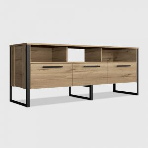 """Emery 3 Drawer Console TV Stand for TVs up to 60"""" Light Wood - RST Brands"""