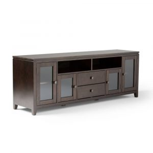 """Essex Wide TV Stand for TVs up to 80"""" Mahogany Brown - Wyndenhal"""
