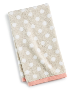 """Martha Stewart Collection 15"""" x 28"""" Cotton Dot Spa Fashion Hand Towel, Created for Macy's Bedding"""
