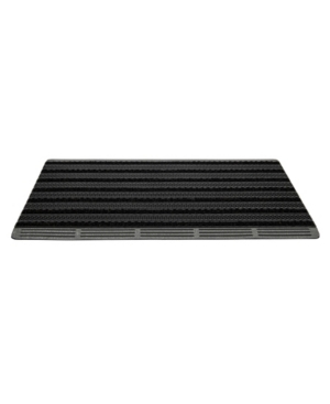 """Mind Reader Ultimate Door Mat, Mud Scrubbing Mat, Greeting Mat with Brushes, Non Tracking Entrance Mat, 36"""" x 24"""""""