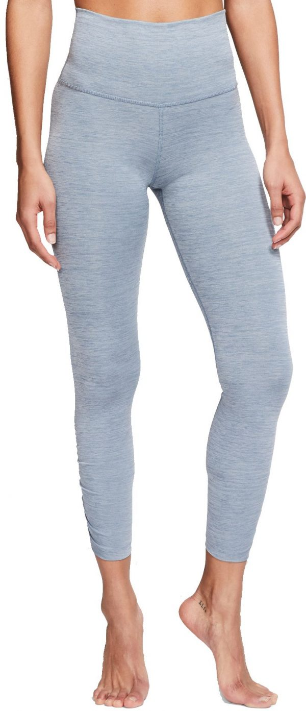Nike Women's Yoga Ruched 7/8 Training Tights, XS, Blue