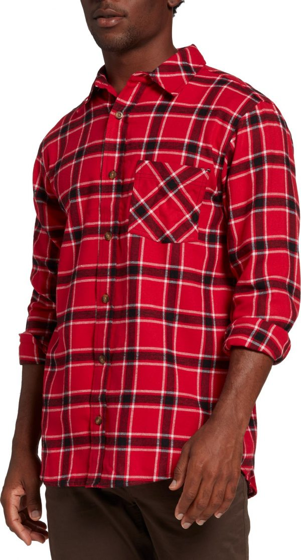 Northeast Outfitters Men's Classic Lightweight Flannel, 4XL, Plaid Red Black