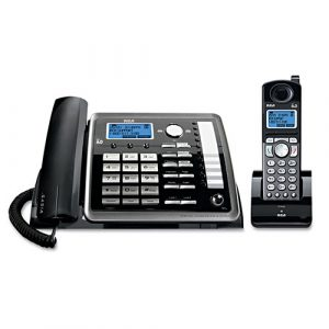 RCA ViSYS 25255RE2 Two-Line Corded/Cordless Phone System with