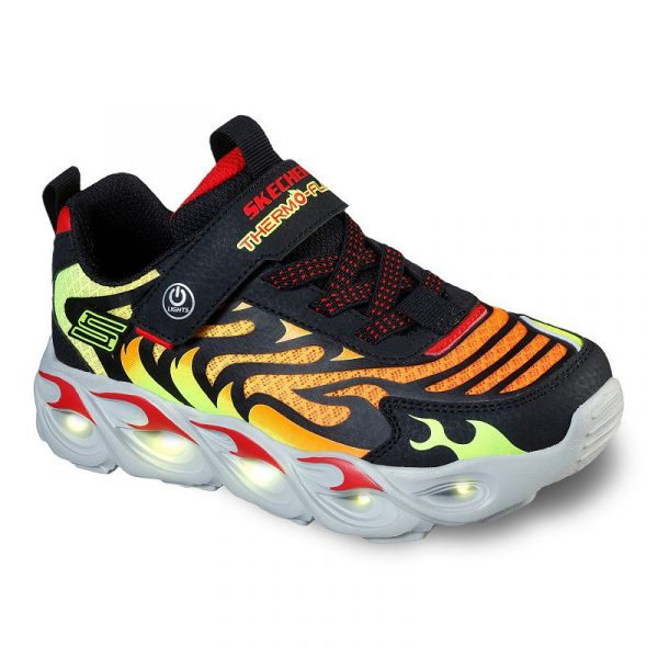 Skechers S Lights Thermo-Flash Boys' Light Up Shoes, Boy's, Size: 3, Red