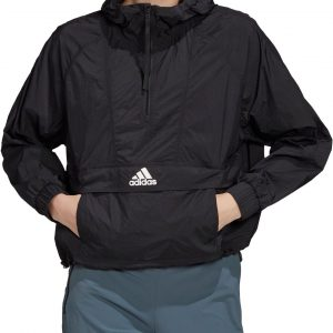 adidas Women's Wind Ready Anorak 1/2 Zip Cropped Pullover, XS, Black